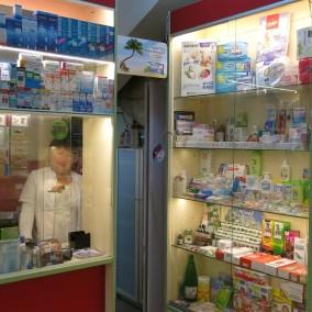 Аптека в прикассовой зоне крупной сети детских магазинов